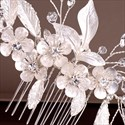 Crystal Handmade Hair Comb Headpieces Flowers Wedding Hair Accessories