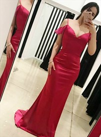 Amazing Hot Pink V-Neck Spaghetti Strap Long Prom Dress With Open Back