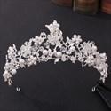 Stunning Rhinestone Flower Pearls Bridal Headpieces