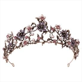 Baroque Flower Pearls Wedding Headpieces