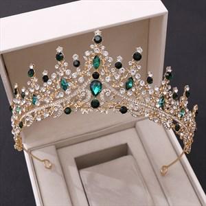 Glittery Rhinestones Crystal Tiara Wedding Headpieces