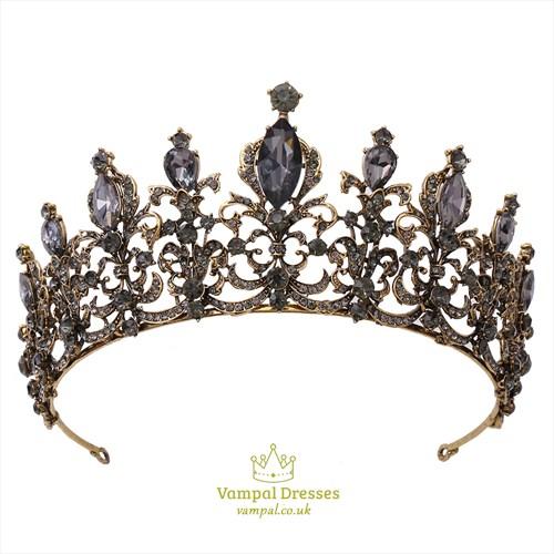 Alloy Rhinestones Baroque Bridal Tiaras