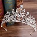 Rhinestone Flower Leaf Bridal Wedding Tiara Crown
