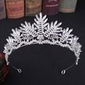 Crystal Rhinestones Leaf Bridal Tiara Princess Headpieces