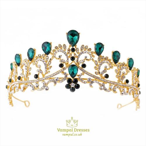Alloy Rhinestones Baroque Bridal Tiara Princess Headpieces