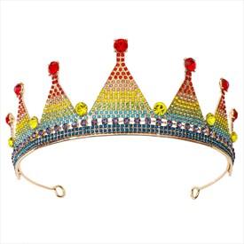 Rainbow Alloy Crystal Sweet 16 Princess Headpieces Bridal Tiara