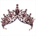 Vintage Baroque Alloy Crystal Princess Headpieces Bridal Tiara