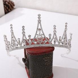 Glamorous Crystal Baroque Alloy Princess Headpieces Bridal Tiaras