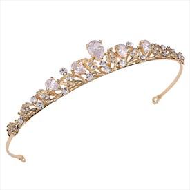 Luxurious Zircon Alloy Princess Headpieces Bridal Tiaras