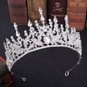 Stylish Baroque Alloy Rhinestones Princess Headpieces Bridal Tiaras