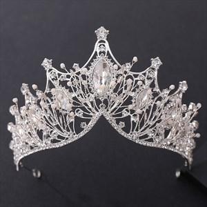 Glittery Crystal Hand-Made Princess Headpieces Bridal Tiaras