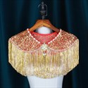 Captivating Illusion Lace Hand-Made Wedding Wrap With Tassels