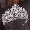Dramatic Baroque Crystal Alloy Princess Wedding Tiaras