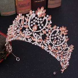 Captivating Baroque Crystal Alloy Royal Court Princess Wedding Tiaras