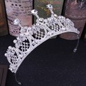 Modern Crystal Alloy Hand-Made Princess Crown Wedding Tiaras