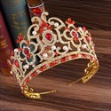 Luxurious Baroque Crystal Alloy Princess Crown Wedding Tiaras
