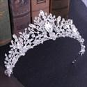 Grecian Floral Crystal Alloy Princess Crown Wedding Tiaras