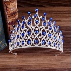 Luxurious Alloy Baroque Rhinestones Drip Princess Bridal Tiara