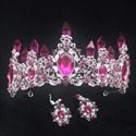 Alloy Baroque Crystal Point Princess Crown Bridal Tiaras