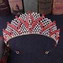 Alloy Leaf Princess Crown Bridal Tiara With Rhinestone Accents