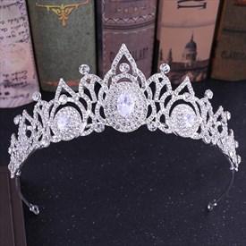 Elegant Zircon Rhinestone Princess Crown Bridal Tiara