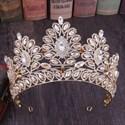 Elegant Alloy Baroque Rhinestones Princess Crown Bridal Tiara