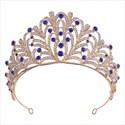 Glamorous Alloy Leaf Rhinestones Princess Crown Bridal Tiara