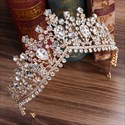 Vintage Alloy Rhinestones Princess Crown Bridal Tiara