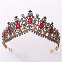 Vintage Alloy Rhinestones Princess Crown Bridal Tiara