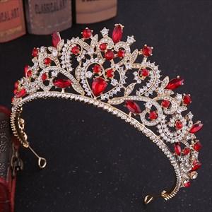 Modern Baroque Alloy Rhinestones Princess Crown Bridal Tiara