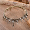 Enchanting Alloy Baroque Beaded Bridal Tiara in Round