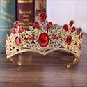 Classic Alloy Baroque Crystal Bridal Tiara Princess Crown