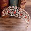 Crystal Drip Bridal Tiara Princess Crown With Rhinestone Accents