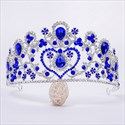 Baroque Alloy Sweetheart Bridal Tiara With Rhinestone Accents