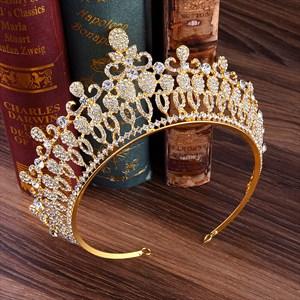 Baroque Crystal Alloy Bridal Tiara Princess Crown