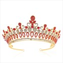 Baroque Crystal Alloy Bridal Tiara Princess Crown