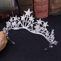 Alloy Star Rhinestones Bridal Tiara Princess Crown With Pearls