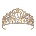 Alloy Baroque Heart-Shaped Bridal Tiara Princess Crown