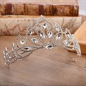 Vintage Alloy Crystal Bridal Tiara With Rhinestone Accents