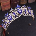 Alloy Floral Crystal Bridal Tiara With Rhinestone Accents