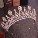 Geometry Alloy Crystal Bridal Tiara With Rhinestone Accents