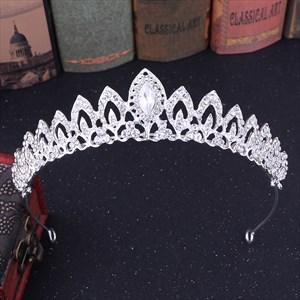 Alloy Rhinestones Leaf Bridal Tiara Princess Crown