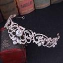 Romantic Crystal Bridal Tiara With Rhinestone Accents