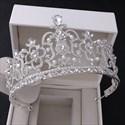 Alloy Baroque Bridal Tiara Princess Birthday Crown With Pearls