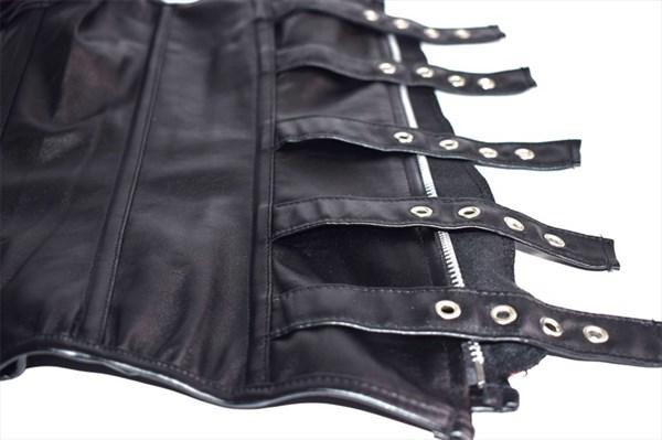 Steampunk PU Leather Steel Boned Sweetheart Neckline Shaper Corset