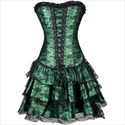 3 Piece Lace Overlay Strapless Layered Basque Shaper Corset