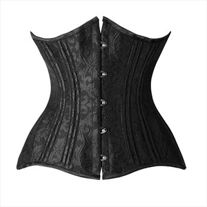 Embroidery Waist Cincher Training Shaper Corset With Boning