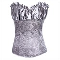 Strapless Cashew Pattern Embroidery Shaper Corset