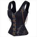 Gothic Steel Boned Shaper Corset With Straps