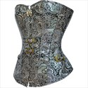 Silver Gothic Jacquard Embroidery Shaper Corset